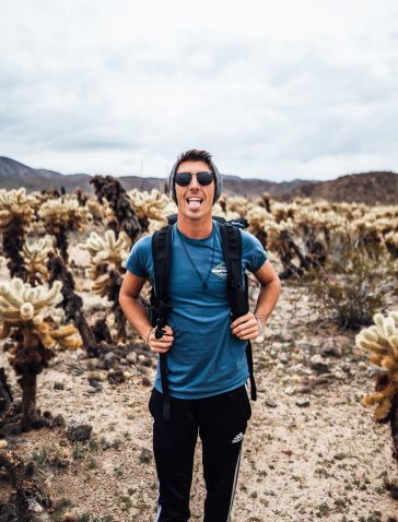 Corey Favino Selfie in Joshua Tree National Park