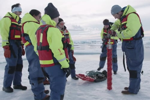 drilling for ice