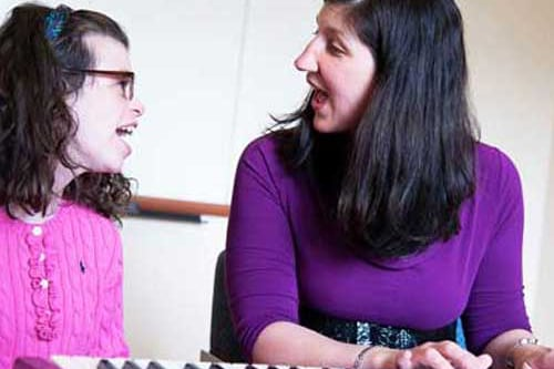 Music therapy instructor Nicole O'Malley