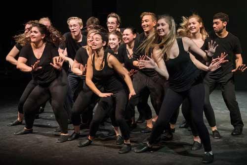 URI musical theatre students dancing