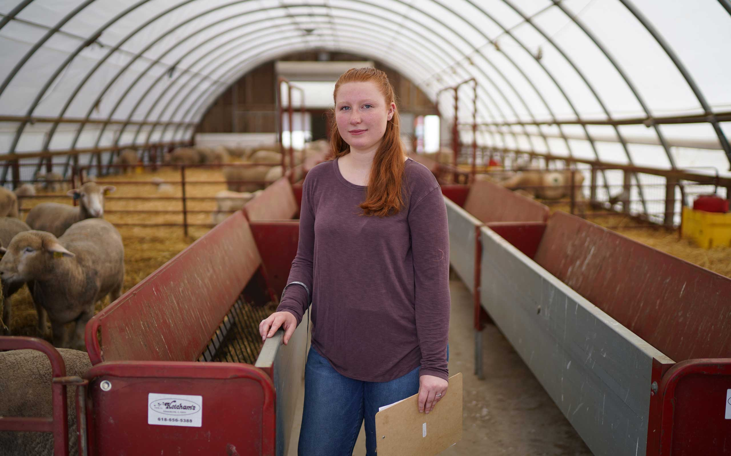 Animal Science major at Julie Bosland at Peckham Farm