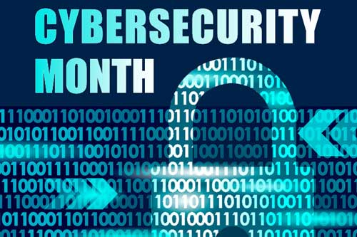 Cybersecurity month logo