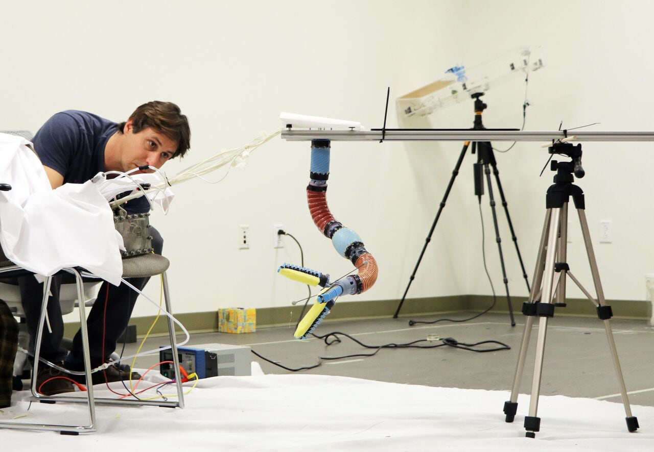 Brennan Phillips developing a robotic arm