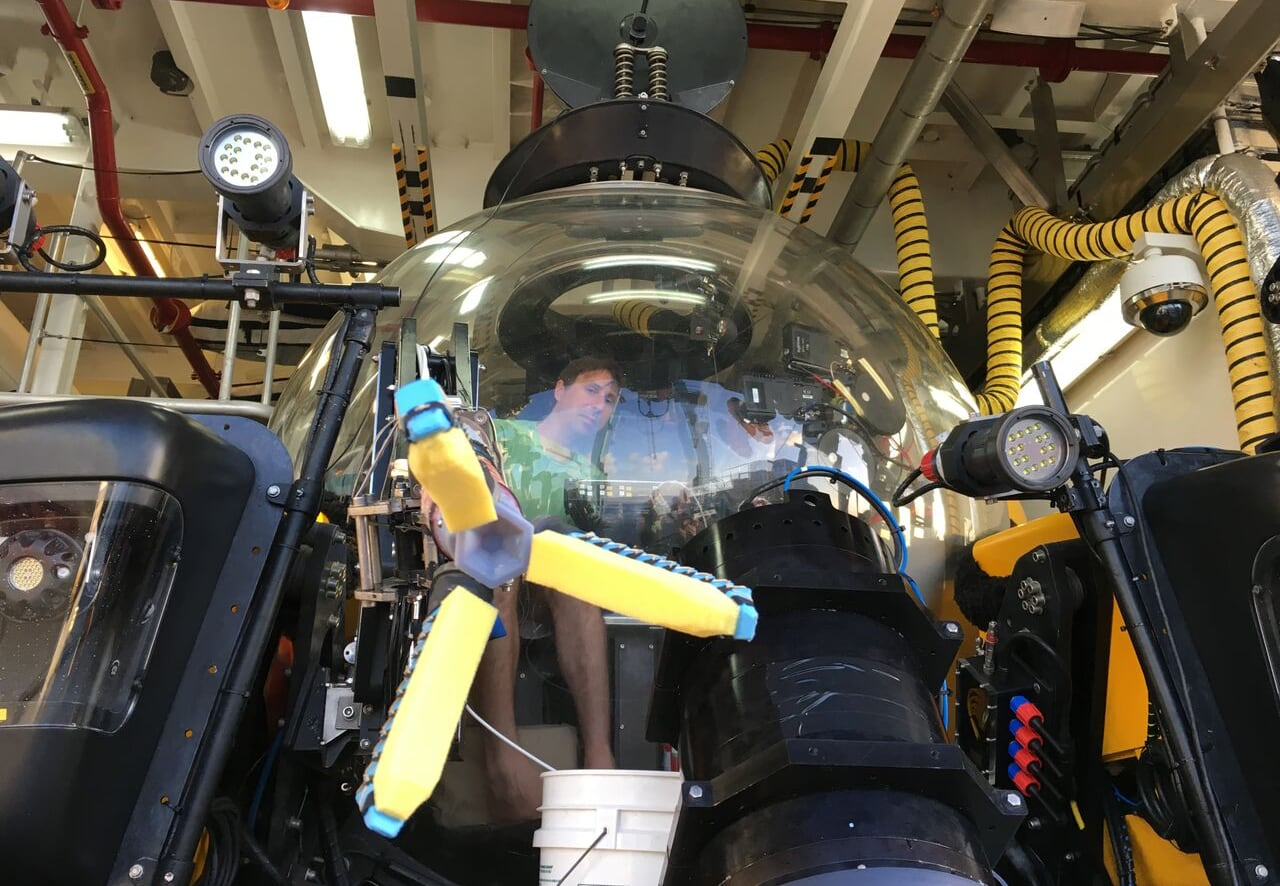 Brennan Phillips operating a submersible