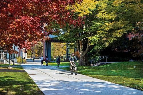 URI campus in the fall