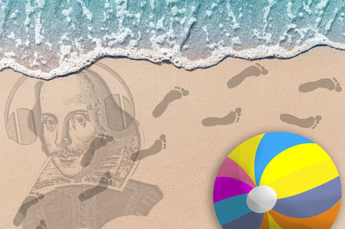 beach graphic for summer reading story