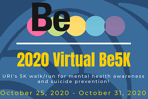 banner ad for Be5K for Mental Health Awareness
