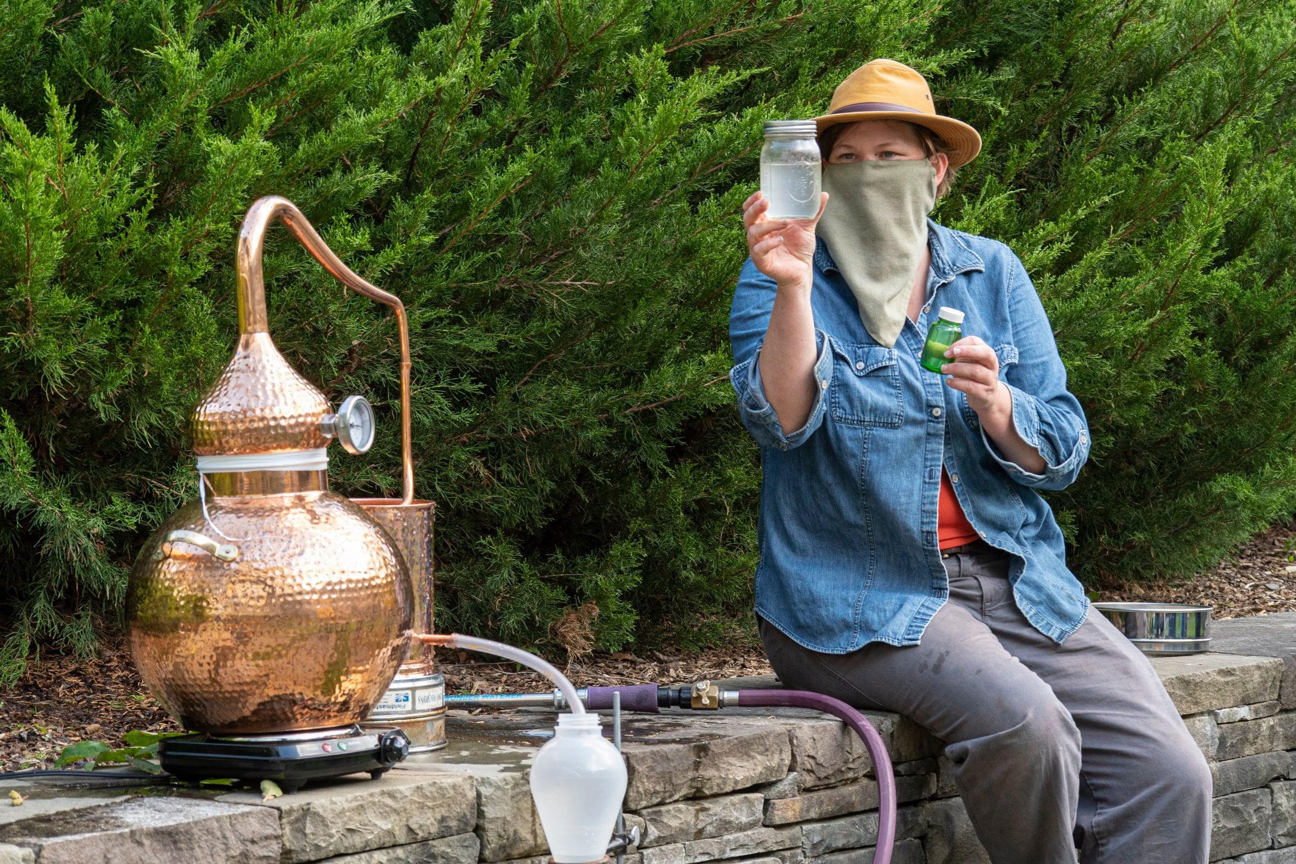 Elizabeth Leibovitz distills witch hazel
