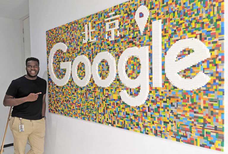 Engineering alumnus Kenny Sulaimon at Google