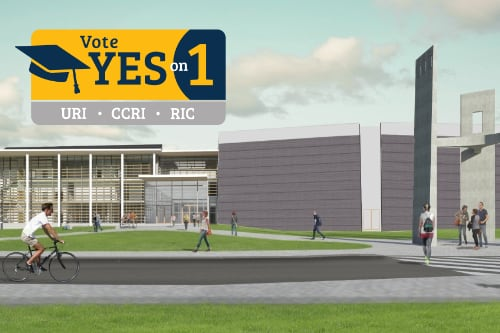 rendering of the renovated Fine Arts Center