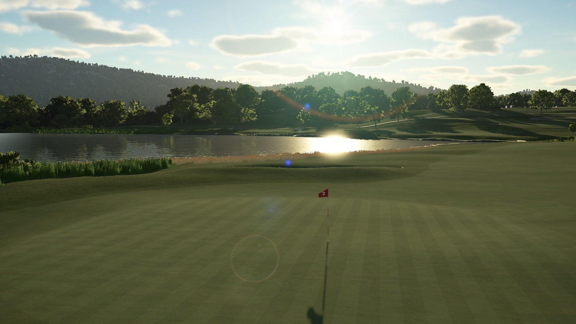 a digital golf course