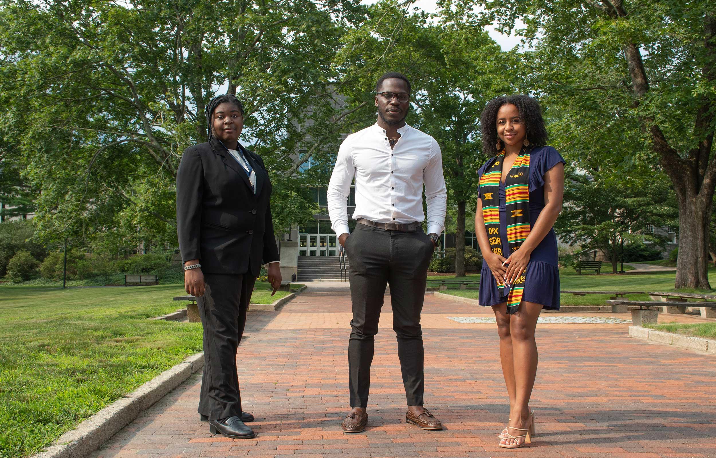 Three recipients of Black Scholar Awards