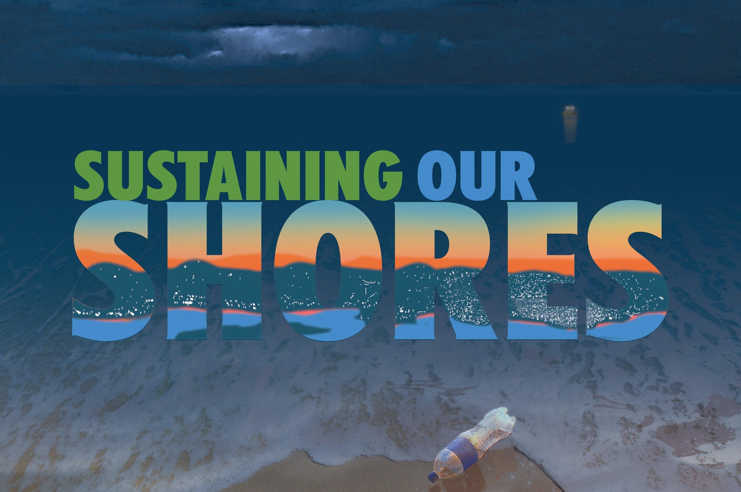 Sustaining our Shores graphic promoting the 2021 URI Honors Colloquium